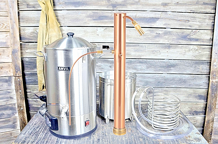 Anvil Foundry 6.5 Gal (environ 24.61 L) + alcoengine reflux encore Electric Brewing Distiller Système
