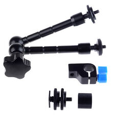 """11""""/28cm Articulating Magic Arm for Mounting HDMI Monitor LED Lights+Rod Clamp"""