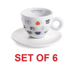 Details about illy Art Collection 25 Set of 6 Cappuccino Cups + Saucers by IPA Limited Edition
