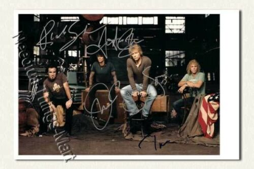 John Francis Bongiovi BAND Autogrammfotokarte laminiert Jon Bon Jovi K06