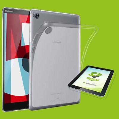 Für Huawei Mediapad T5 10.1 Zoll Transparent Hülle Tasche Cover + H9 Hart Glas Medulla Benefico A Essenziale