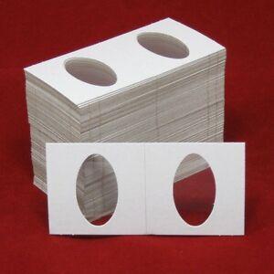 100-Cardboard-2x2-Coin-Holder-Mylar-Flips-for-Elongated-Coins