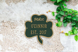 Shamrock-Personalized-Address-Plaque