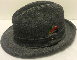 9defa4adfe4b8 Vintage Stetson Fedora Wool Felt Hat Size 7 Medium 22