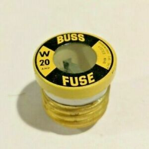 5-PK-W-20-Amp-FAST-ACTING-Plug-Fuse-BUSS-Bussmann-NEW-Fuses-125Vac-EAGLE-NEW