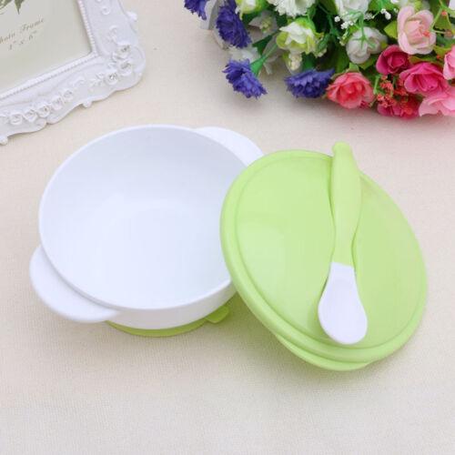 Baby Feeding Training Bowl Temperature Sensing Spoon Suction Cup Tableware Set