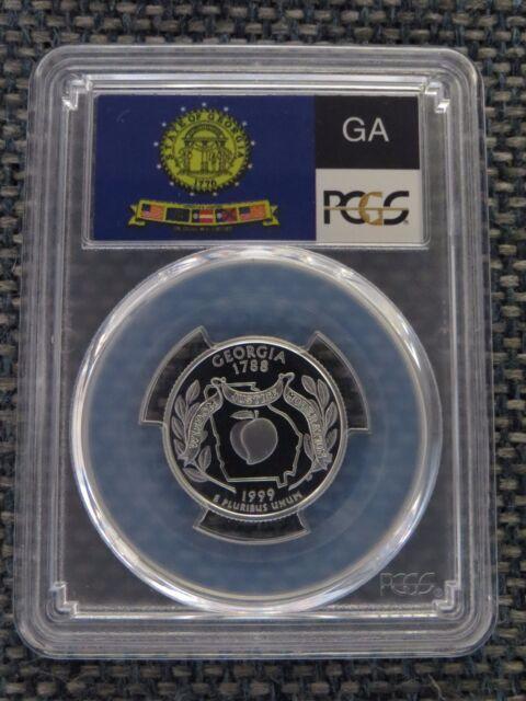 1999-S 25c Pennsylvania CLAD State Flag Label Quarter Proof PCGS PR70DCAM
