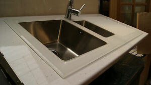 Glass kitchen sinkglass sinkswhite glass sinksblack glass sinks image is loading glass kitchen sink glass sinks white glass sinks workwithnaturefo