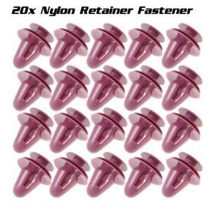 20x Nylon Door Panel Trim Board Rivet Fastener Retainer Clips for Toyota Lexus
