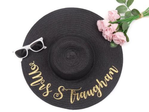 Personalised Sun Hat Beach Floppy Sun Hat Personalized Floppy Beach Hat