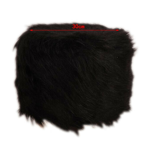 Exquisite Furry Polyester Round Stool Cover Fits 28-40cm Footstool Cover