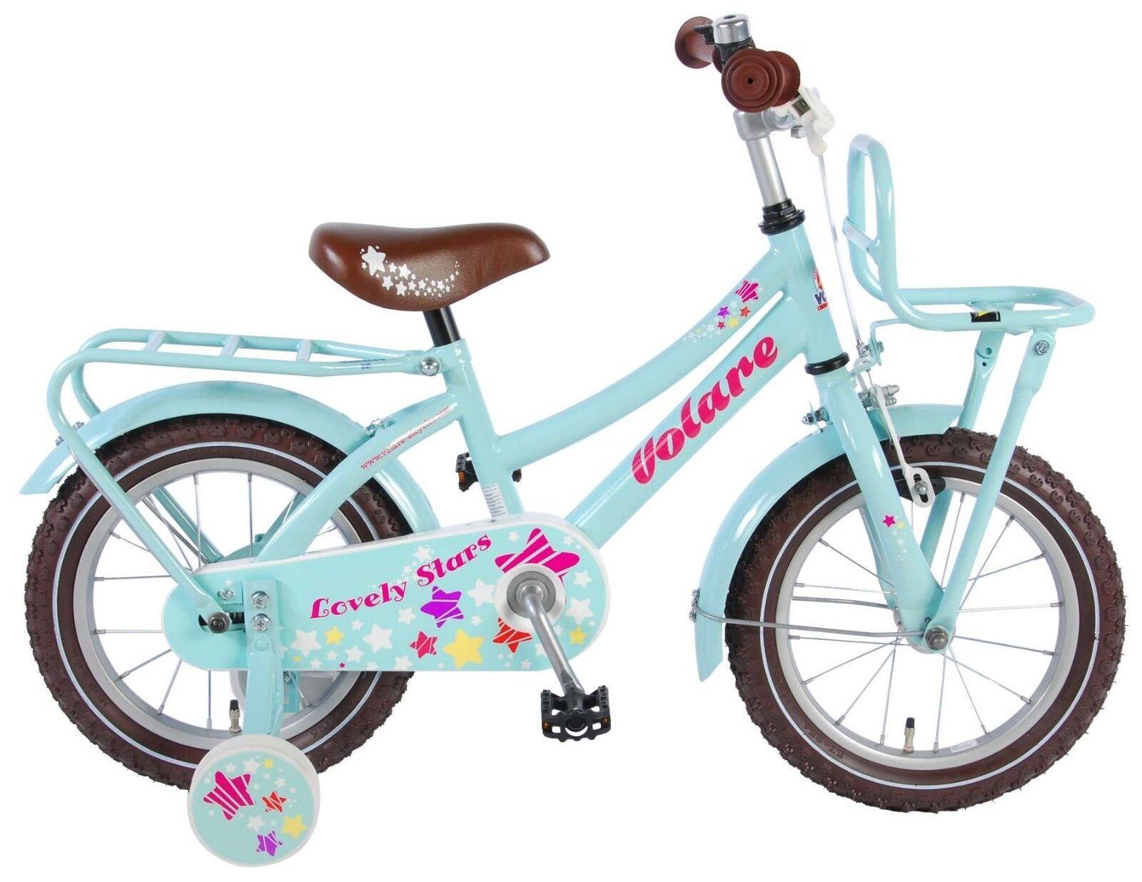 14 Zoll Fahrrad  Kinderfahrrad Mädchen Kinder Stützräder Hollandrad Blau Rosa