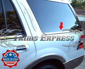 07-2017-Ford-Expedition-Rear-Cargo-2Pc-Chrome-Window-Sill-Trim-Stainless-Steel