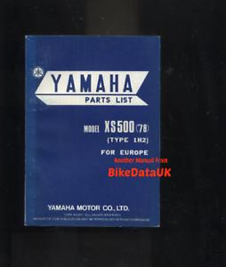 Yamaha-XS500-DOHC-1978-gt-Genuine-Parts-List-Catalogue-Book-Manual-XS-500-BC71