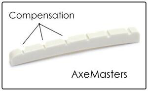 "AxeMasters 1 11//16/"" 43mm /""Standard Size/"" BONE NUT made for Fender Guitar"