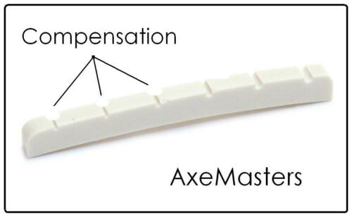 """1 5//8/"""" CURVED COMPENSATED BONE NUT for Fender Guitar AxeMasters 41mm"""