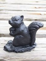 Squirrel Made From Coal Figurine Handcrafted In Kentucky