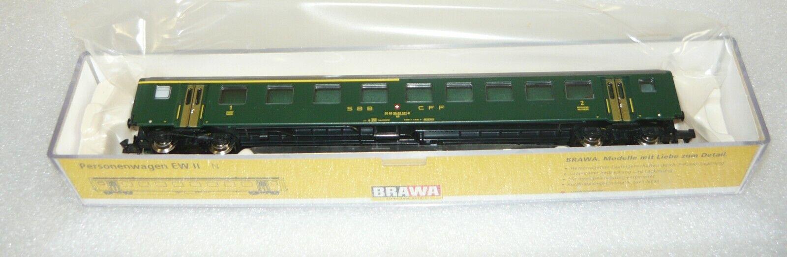 Brawa 65220, Personenwagen AB EW EW EW II der SBB, Ep. IV, N, NEU&OVP  | Ausgezeichnetes Handwerk  979916
