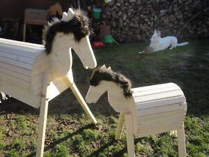 Holzpferd Voltigierpferd Holzpony Pferd Pony Holzspielzeug