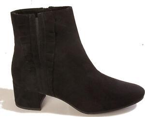 ff6d2c8ae165e4 Das Bild wird geladen TAMARIS-Schuhe-Stiefelette-Ankle-Boots-Schwarz -Velour-Reissverschluss-
