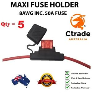 x5-50amp-Maxi-Fuse-with-Weatherproof-Holder-8AWG-8-B-amp-S-wire-Dual-Battery-50A