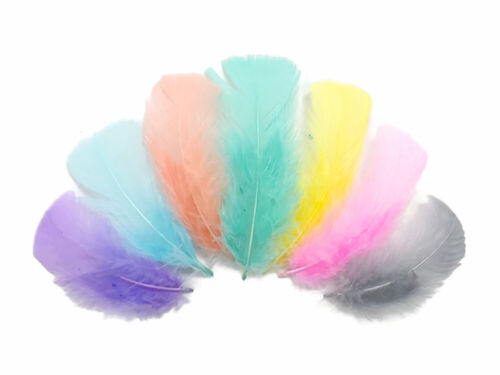 1//4 Lb Yellow Turkey T-Base Wholesale Flat Feathers Bulk Mardi Gras Wedding