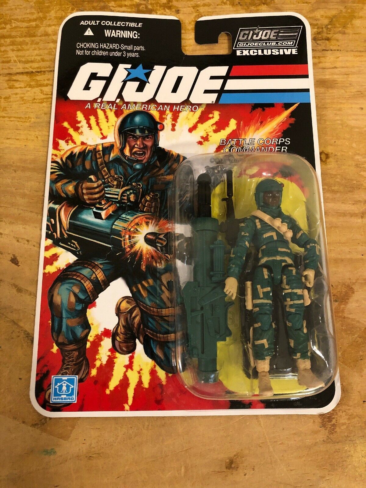 GI joe Fss 8.0 Bullet Proof, battaglia Corps Comuomoder, Mint on Sealed autod, Moc