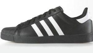 Adidas SUPERSTAR VULC ADV Black White Black D68719 Skate (340) Men 's Shoes