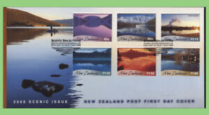 New-Zealand-2000-Scenic-issue-set-on-First-Day-Cover