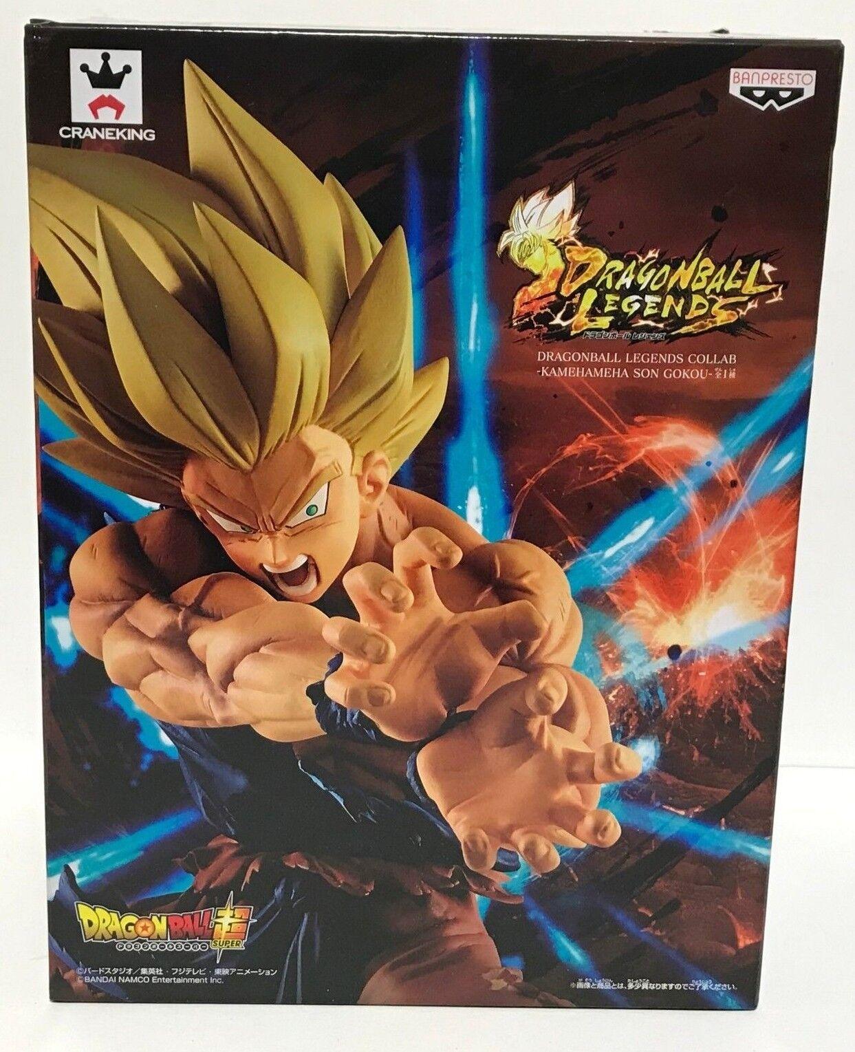 Dragon Ball Legends SS Son Goku Figure Kamehameha Banpresto Japan Authentic NEW