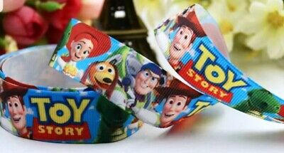 """7//8/"""" 2 YARDS Toy Story Grosgrain Ribbon Hair Bows Cards Crafts Gift Wrap"""