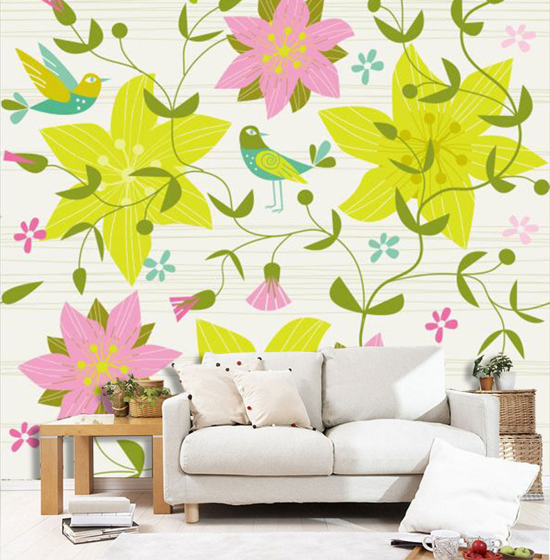 3D Gelb Star Flower 112 Wall Paper Wall Print Decal Wall Deco Indoor Wall