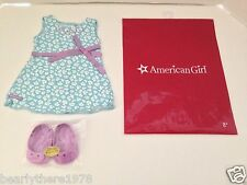 American Girl Teal Print Dress & Shoes AGP Store Exclusive  Brand NEW in AG Bag
