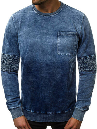 Sweatshirt Pull Chemise Manches Longues Col Rond Sweatjacke OZONEE js//kk1029 Hommes