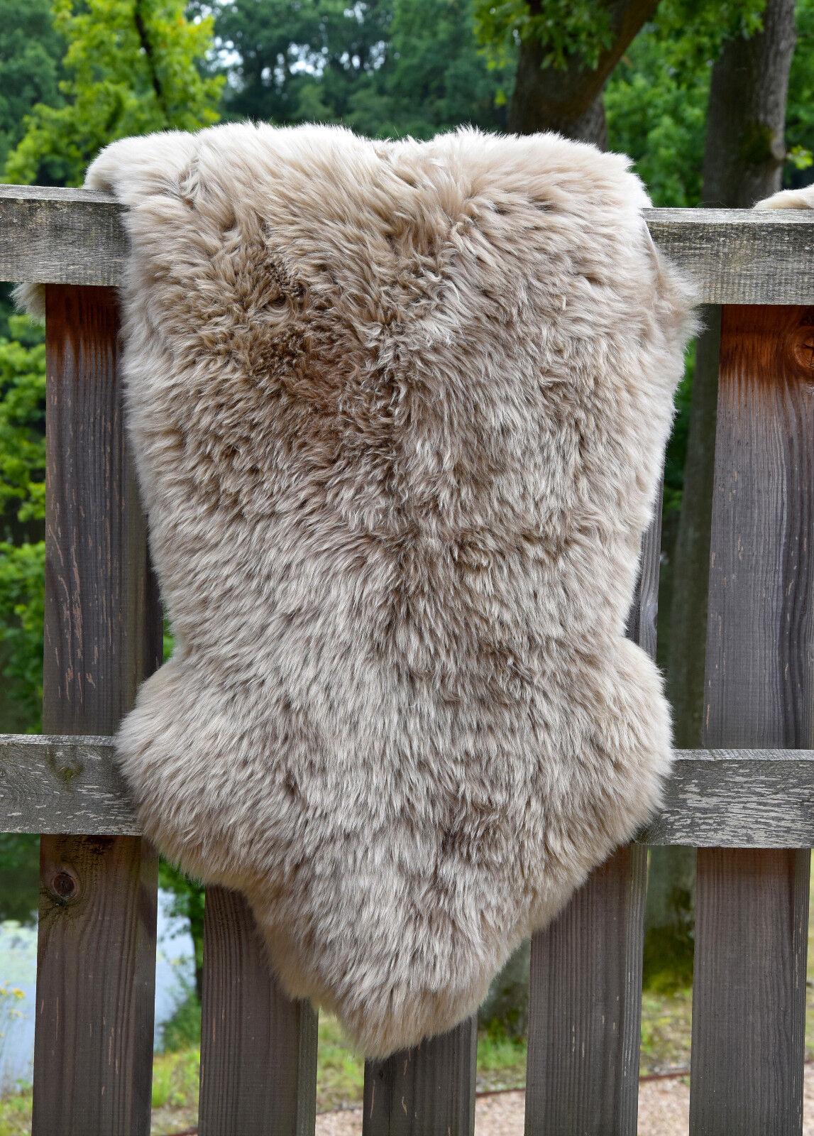 Australisches Merino Lammfell Schaffell taupe Leder Teppich Fell wählbare Größe