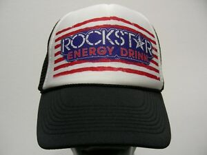 f765dc6a08e rockstar energy drink - trucker style adjustable snapback ball cap hat!