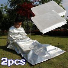 Double People Emergency Survival Sleeping Bag Bivy Woodland I1F9 Sack