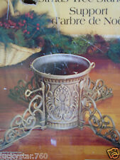 """Ornate Cast Iron Christmas Tree Stand Holds Trunk From 2.75"""" - 7"""""""