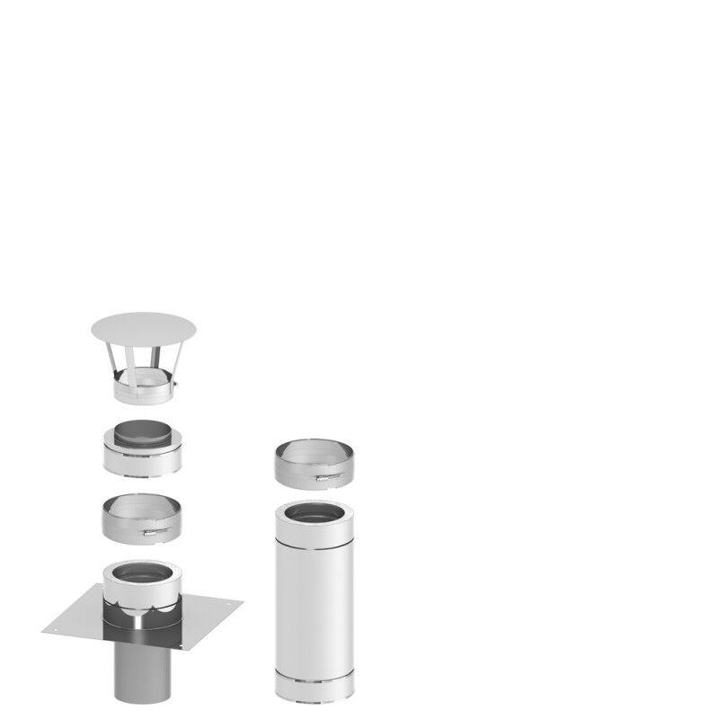 Schornstein Kamin Verlängerung Erhöhung Aufsatz doppelwandig