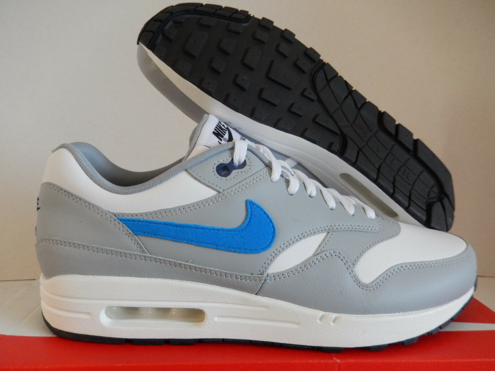 aacc0507c1d7 NIKE AIR AIR AIR MAX 1 ID WHITE-GREY-BLUE SZ 10.5  943756-991 ...