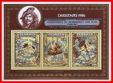PENRHYN 1986 CHRISTMAS / POPE'S VISIT S/S SC#B23 MNH CV$23.00 D01 FREE SHIPPING?