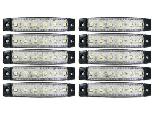 10 X 24v Led White Side Marker Light FOR Scania  R500 P230 R560 Truck Unversal