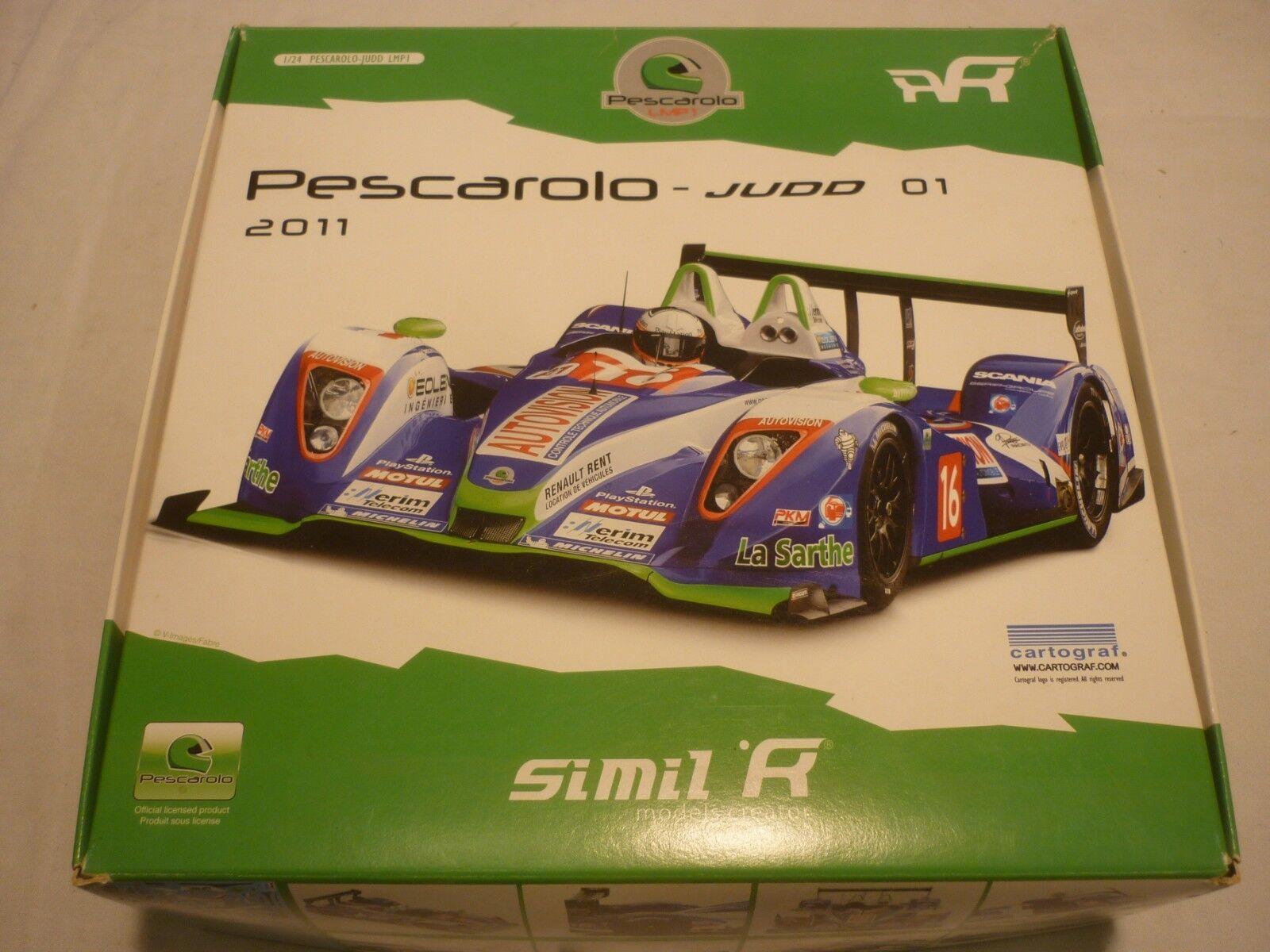 A SIMIL un-built plastic kit of a Pescarolo Judd 01 racing car,  boxed