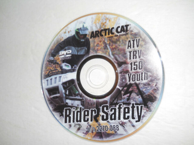 ARCTIC CAT TRV 150 RIDER SAFETY DVD TRAINING VIDEO ALTERRA 90 DVX90 YOUTH