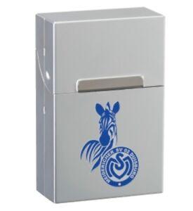 Zigarettenbox chrom MSV DUISBURG NEU