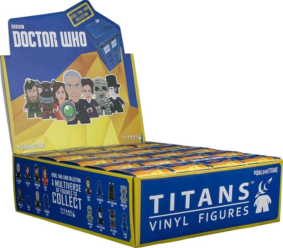 DOCTOR WHO - Rebel Time Lord 3  Blind Box Titans Vinyl Figurines Display (20ct)
