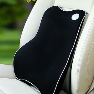 Memory-Foam-Lumbar-Back-Support-Cushion-Pillow-Home-Car-Office-Seat-Chair-Black