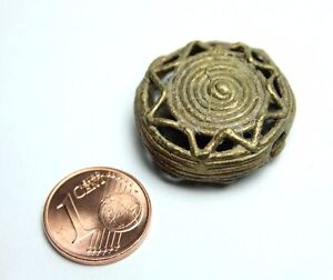 1 Stück Ashanti Ghana Messingperlen Akan brass beads lost wax process Biżuteria