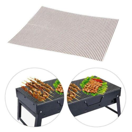 2PCS BARBECUE GRILL PAD TAPPETINO IN TEFLON ANTIADERENTE Mesh Net BARBECUE GRIGLIATE Cottura Opaco