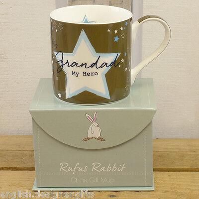 Rufus Rabbit Grandad My Hero Mug Gift Boxed - Father's Day Gift